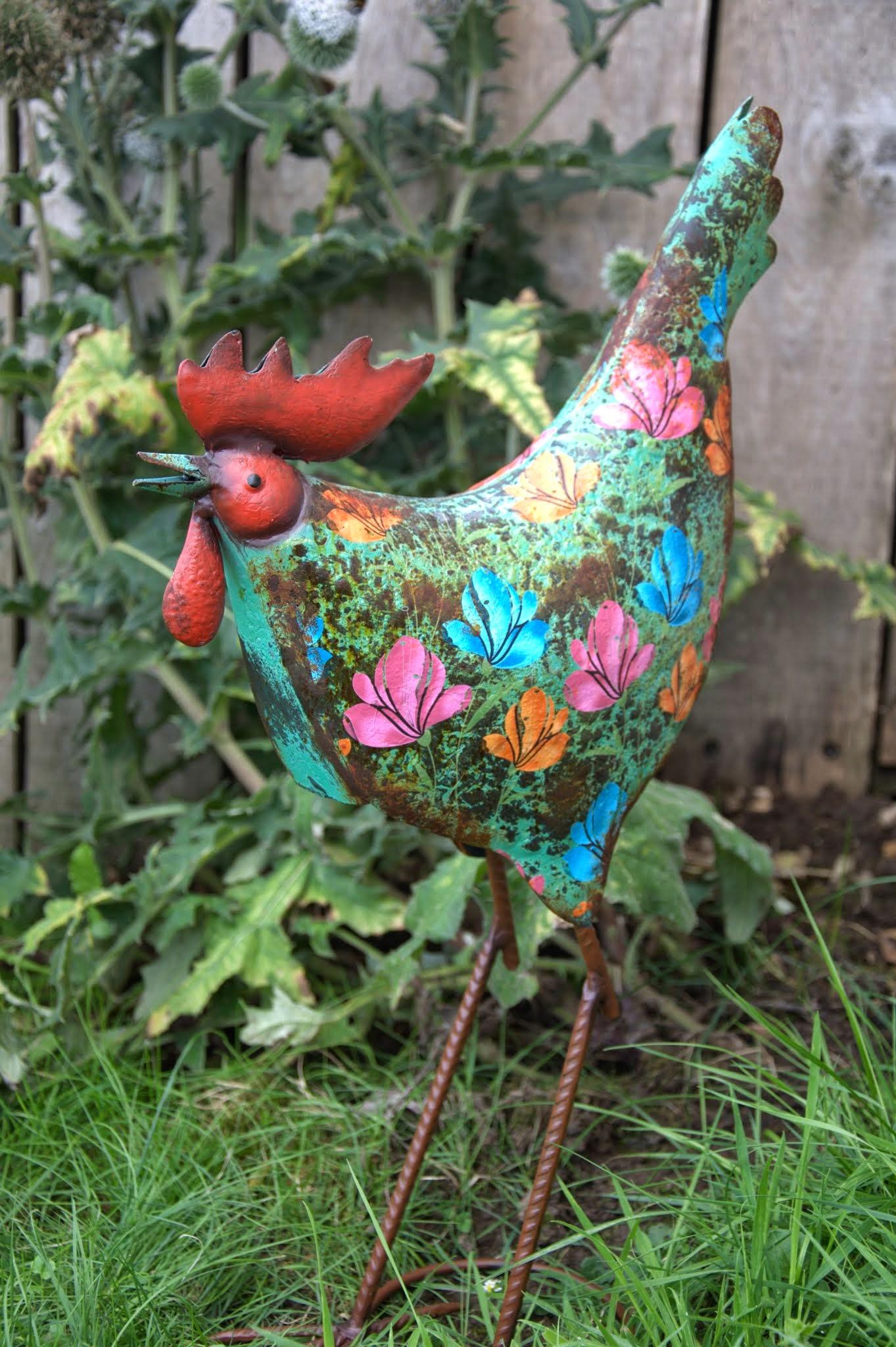 Metal Chicken Garden Ornaments